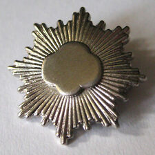Rounded Pre-2011 Girl Scout SILVER AWARD PIN Cadette Highest Award Starbust
