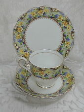 Antique Royal Albert Crown China Trio Cup S. & Plate Mary's Garden Pattern 1937