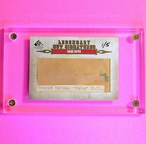 2011 SP Legendary Cuts Babe Ruth CUT SIGNATURE Autograph Auto #d 1/5 Yankees