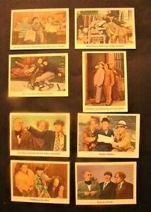VINTAGE 1959 FLEER 3 THREE STOOGES CARDS SET OF 8 NUMBERS 18 - 22 - 25 - 27 -29