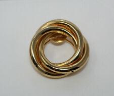 Beautiful Vintage JERI-LOU Goldtone Circle Round Scarf Dress Clip N4