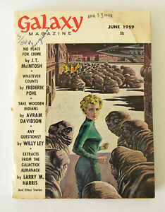 Galaxy Magazine ~June 1959 ~ EMSH cover ~ Good cond.