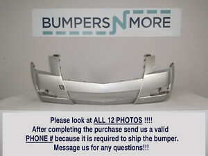 OEM 2008-2013 Cadillac CTS Base/Performance w/o Lamp Washer Front Bumper Cover