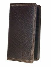 Nocona HD Xtreme Work Mens Western Brown Leather Wallet Rodeo Nylon Interior