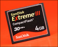 San Disk Extreme III  30MB/s 4GB CF  Compact Flash Memory Card For DSLR Cameras