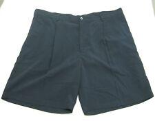 NIKE GOLF Mens Dark Navy Blue Pleated Walking Chino Dress Shorts (Size 42)