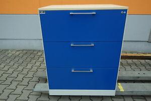 Karteischrank Schubladenschrank zweibahnig Din A4 Quer 3 Schubladen C+P