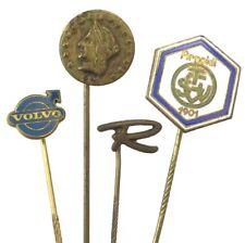 VINTAGE JEWELRY LOT LAPEL STICK PIN ENAMEL VOLVO INITIAL R +  # 178