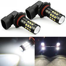 JDM ASTAR 2x 2828 H10 9145 LED 6000K White Fog Light DRL Running Bulb High Power