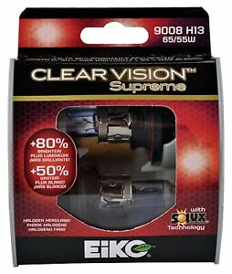 EiKO 9008 Clear Vision Supreme Halogen Bulb Pack of 2