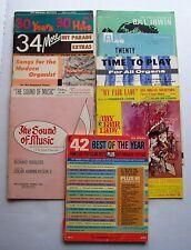 9 Vintage Organ Music Song Books Hit Parade, Pop, Musicals, Etc.