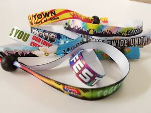 150 Personalised Fabric Wristbands - Your wristband/your design