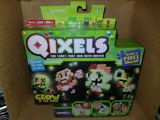 Moose Toys Qixels Glow In The Dark Zombies 500 Cubes New!