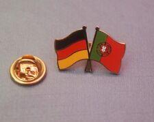 Freundschaftspin Deutschland Portugal  Pin Anstecker Button Badge Flaggenpin