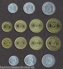 TUNISIA COMPLETE FULL COIN SET 1+2+5+10+20+50+100 Millim 1960-2007 UNC LOT 7