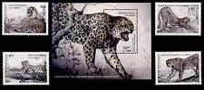 Leopard. 4W + Block. Usbekistan 1997