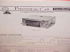 1977 CRAIG CAR 8-TRACK STEREO TAPE PLAYER/AM-FM RADIO SERVICE MANUAL MODEL 3149
