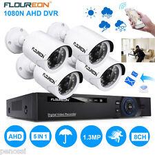 2000TVL 8CH CCTV Kit Vidéo Surveillance Sécurité 5-in-1 DVR Caméra Extérieur FR