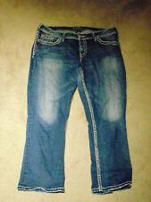 "Silver jeans ""Suki Capri""  Women's  denim Capri's  Sz16 L27"