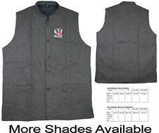 100% Woollen Hand Woven Tweed from India Modi-Nehru Style Waistcoat Vest