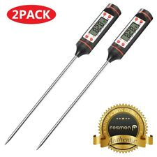 2X Digital LCD Instant Read Probe Meat BBQ Grill Kitchen Cooking Thermometer