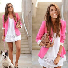 Stylish Women Casual Slim Suit Blazer Jacket Ladies Candy Color Thin Outwear Hot