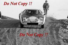 Sandro Munari Lancia Stratos HF ganador cobraba lagos fotografía Rally 1974 4
