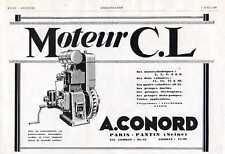 1928 Publicite Moteur Fixe C.L. - A. Conord