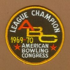 1969-70 AMERICAN BOWLING CONGRESS LEAGUE CHAMPION PATCH