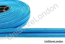 Rank Braid 13 mm Wide Blue- Dark Blue-Blue  cellophane Braid R910