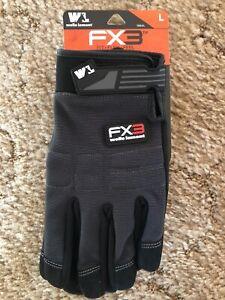 WELLS LAMONT ~ FX3 Extreme Dexterity Touchscreen Work Gloves Sz Large Men Women
