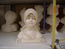 Buste femme plâtre  teinté statue 28 cm 2069