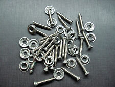 "25 pcs #8 x 1"" stainless kick panel door interior trim screws washers GM GMC"