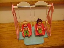 Barbie Tommy and Kelly Dolls with Bouncin Babies Swing