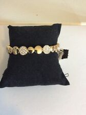 Ann Klein  Gold Tone Pave Circle Stretch Bracelet $34 AK155