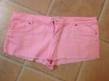 Papaya Cotton Patternless Plus Size Shorts for Women