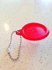 Tupperware Wonderlier Bowl KeyChain Lid Opens Lunch Money Advil - Red Seal New