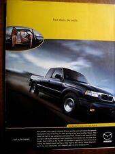 "1999 Mazda B Series 4 X 4 Cab Plus Original Print Ad 8.5 x 10.5"""