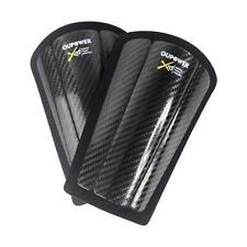 OUPOWER Soccer Three-piece carbon fiber shin guards Football Black