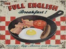 Inglese per colazione stile Vintage Latta Placca Insegna Parete in Metallo Retrò Regalo