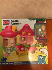 Mega Bloks Smurfs 'Smurfette's House' Building Playset-New in Packaging