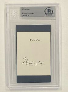 Muhammad Ali Signed Cut on 3x5 Card Autographed Beckett BAS Boxing HOF AUTO