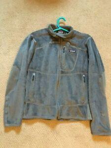 Patagonia Mens Fleece Jacket R2 Full Zip Grey Size Large