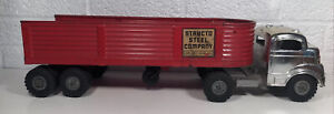 Vintage Structo Steel Company Semi Tractor Trailer Truck Pressed Steel Toy