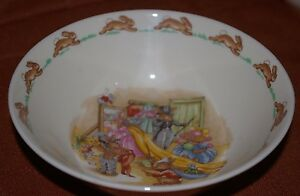ROYAL DOULTON BUNNYKINS CEREAL SOUP BOWL PLAYING DRESS UP UNUSED CONDITION
