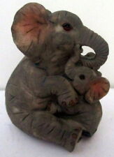 9CM ADORABLE MOTHER & BABY ELEPHANT ORNAMENT! CUTE GIFT FOR ELLIE LOVERS! BN