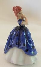 CHARMING MINI ROYAL DOULTON LOVELY LADY FIGURINE LAURA, BLUE GOWN