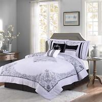 Red & Black 7-piece Nadia Comforter Set Bedding - Oversized Royalty Design