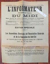 1913 L'informateur pharmaceutique du midi - Marseille - Pharmacie - publicités
