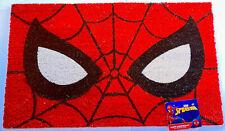 """Disney Marvel Spider-Man Coir Doormat 18""""X30"""" Outdoor Superheroes Spider Web New"""